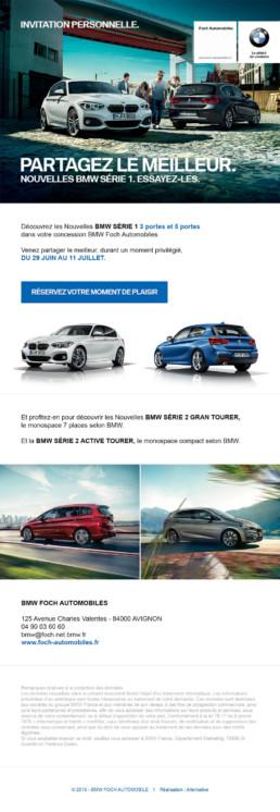 Newsletter pour promouvoir le nouveau BMW Série 1